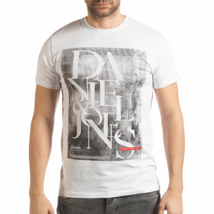 Tricou pentru bărbați Denim Company în alb