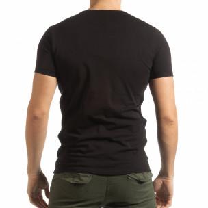 Tricou negru She Is What pentru bărbați  2