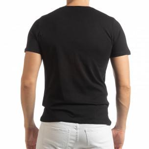 Tricou negru Amsterdam 96 pentru bărbați  2