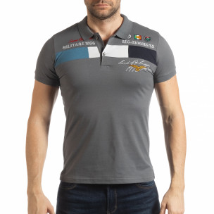 Tricou gri cu accente pentru bărbați