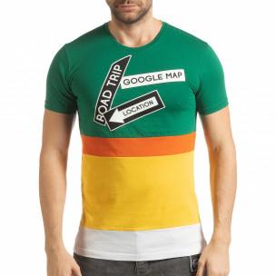 Tricou multicolor pentru bărbați