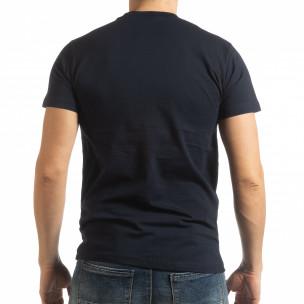 Tricou pentru bărbați Sound albastru închis  2