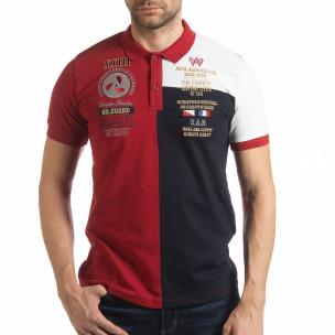 Tricou cu guler RBW Marine style pentru bărbați