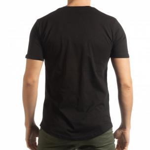 Tricou pentru bărbați negru cu craniu  2