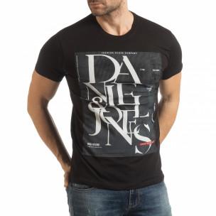 Tricou pentru bărbați Denim Company în negru