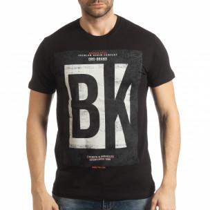 Tricou negru BK pentru bărbați