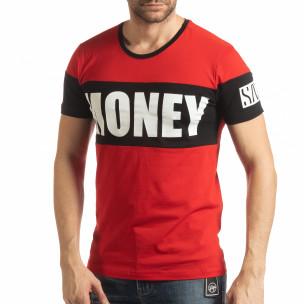 Tricou roșu Money pentru bărbați
