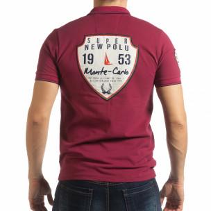 Tricou vișiniu polo shirt Royal cup pentru bărbați  2