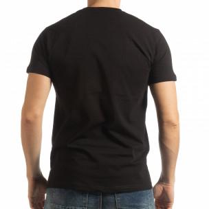 Tricou negru BK pentru bărbați  2