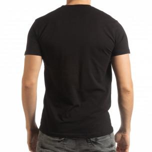 Tricou în negru pentru bărbați  2