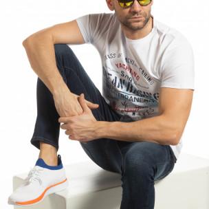Tricou alb Ocean Racing pentru bărbați Enjoy