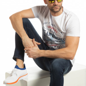 Tricou alb Ocean Racing pentru bărbați