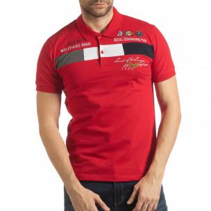 Tricou roșu cu accente pentru bărbați