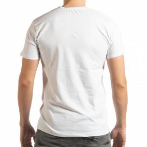 Tricou pentru bărbați Denim Company în alb  2