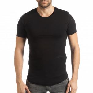 Tricou negru Basic pentru bărbați