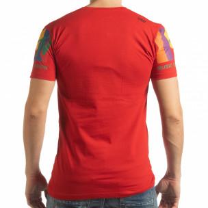 Tricou roșu MTV Life pentru bărbați  2