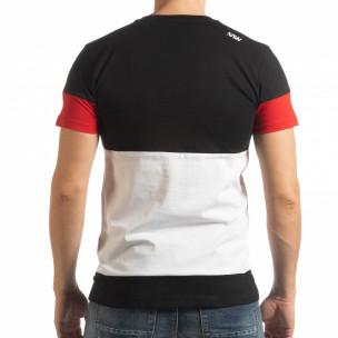 Tricou pentru bărbați Move multicolor cu negru  2