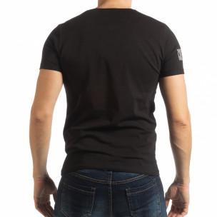 Tricou negru Resurrection pentru bărbați  2
