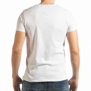 Tricou alb Vision pentru bărbați  2
