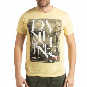 Tricou pentru bărbați Denim Company în galben