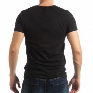 Tricou negru ART pentru bărbați  2
