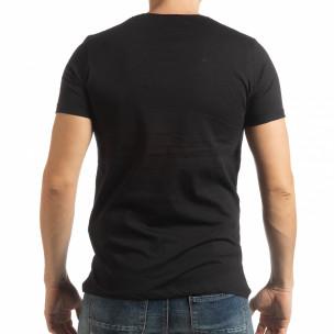 Tricou negru Vision pentru bărbați  2