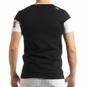 Tricou negru Money pentru bărbați  2
