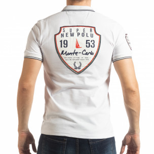 Tricou alb polo shirt Royal cup pentru bărbați  2