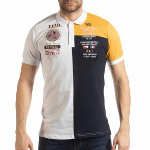 Tricou cu guler WBY Marine style pentru bărbați