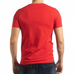 Tricou roșu ART pentru bărbați  2