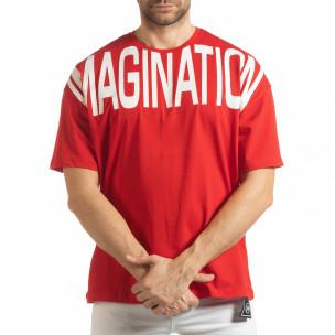 Tricou roșu Imagination pentru  bărbați