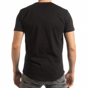 Tricou pentru bărbați negru cu craniu de cauciuc  2