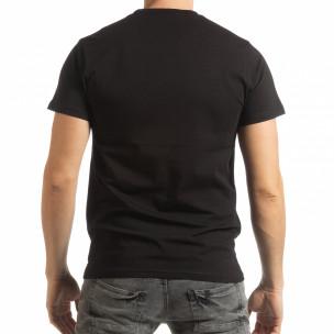 Tricou negru Chronograph pentru bărbați  2