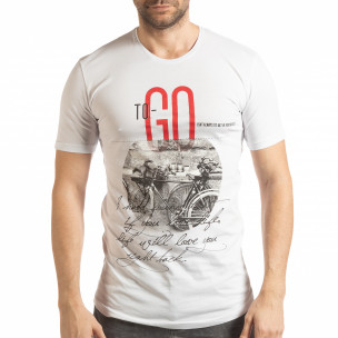Tricou alb To-Go pentru bărbați
