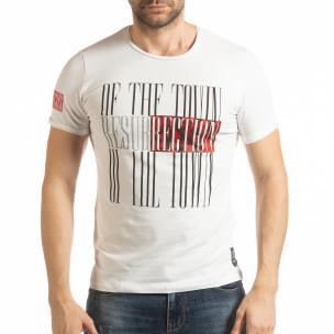 Tricou alb Resurrection pentru bărbați