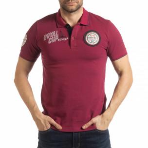 Tricou vișiniu polo shirt Royal cup pentru bărbați