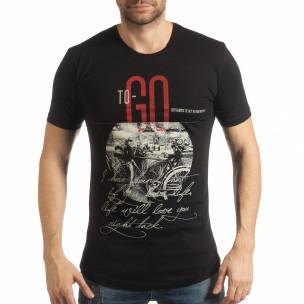 Tricou negru To-Go pentru bărbați