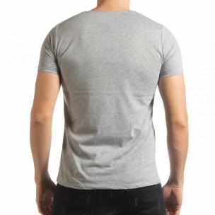 Tricou gri Criticize pentru bărbați  2