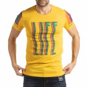 Tricou galben MTV Life pentru bărbați