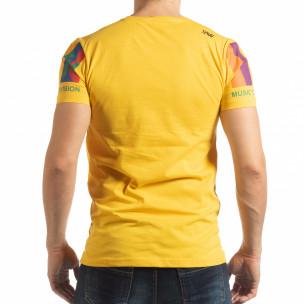 Tricou galben MTV Life pentru bărbați  2