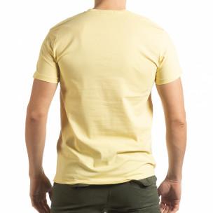 Tricou pentru bărbați Denim Company în galben 2