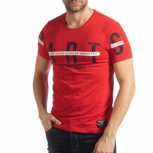 Tricou roșu ART pentru bărbați