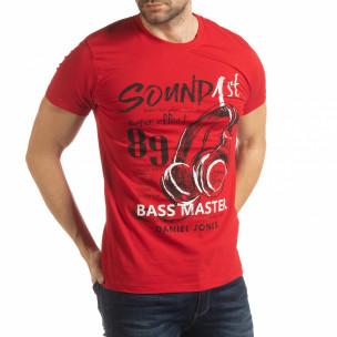 Tricou pentru bărbați Sound roșu