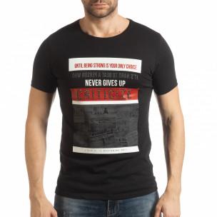 Tricou negru Criticize pentru bărbați