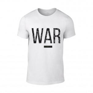 Tricou pentru barbati War alb