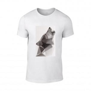 Tricou pentru barbati Wolf 2 alb