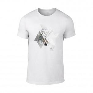 Tricou pentru barbati Wolf 1 alb