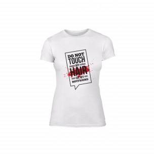 Tricou de dama Don't touch me! alb, mărimea M 2