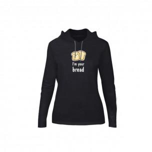 Tricou de dama Nutella & Bread negru, Mărime M