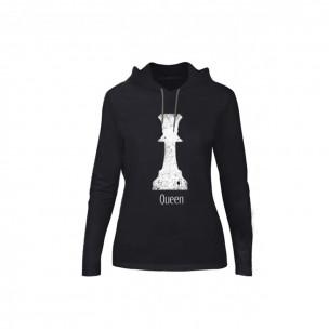 Tricou de dama Chess negru, Mărime S